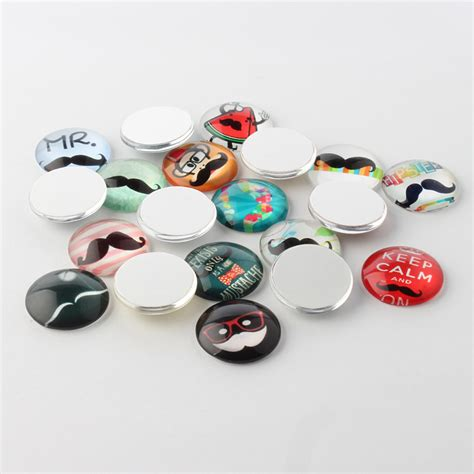 life printed half round dome glass cabochons mixed color 14x5mm ebay 10pcs moustache printed glass cabochons half round dome