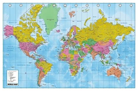 mapamundi fisico politico mapas posters mundo y espa a world map political poster sold at europosters