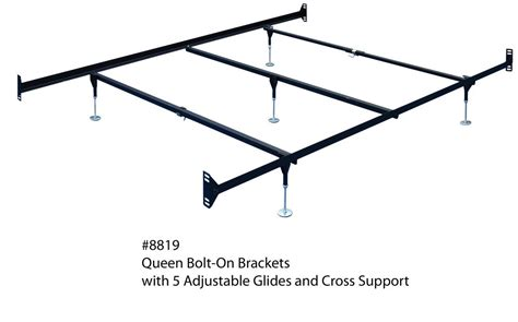 Queen Size Steel Bed Frame For Hdbd Ftbd W 5 Legs And Bed Frame With Hooks