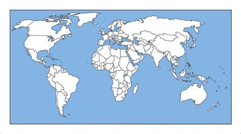 blank world map with country names maps world map outline