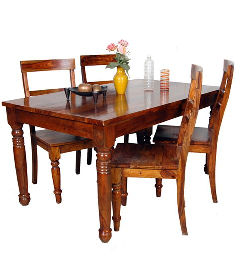 Maple Dining Table Set Hardinge Dining Table Set In Colonial Maple Finish With Mudramark By Mudramark Four