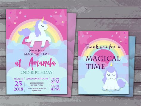 unicorn party invitation     holidaypartystar  zibbet