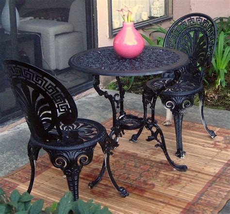Wrought Iron Bistro Table And Chairs Black Wrought Iron Dining Table Black Wrought Iron 54 X 54 Dining Table