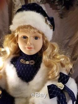 stunning telco animated victorian girlboy doll motionette christmas figure