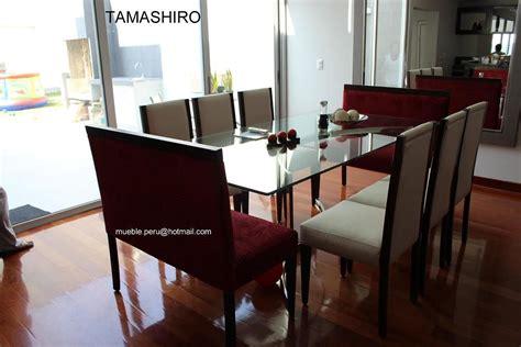 hermoso comedor tamashiro  moderna mesa de acero