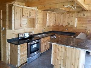Log Kitchen Cabinets Cedar Log Kitchen Cabinets Log Home Kitchen Cabinetry The Log Furniture Store Log Beds