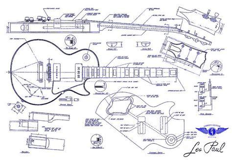 printable version p87 resultado de imagem para guitar les paul blue print