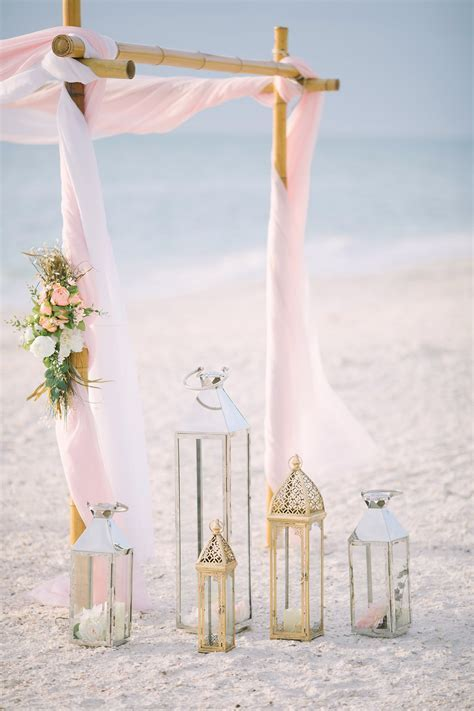 Artistic Pink Beach Wedding Decoration   Indian Wedding