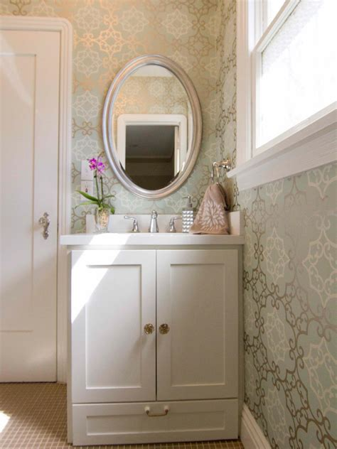 traditional bathroom wallpaper photo page hgtv