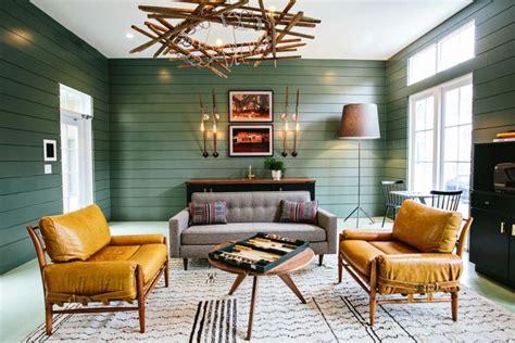 mixing mid century modern and rustic tendance d 233 co salon un mix de couleurs et de meubles