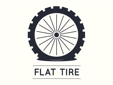 tires plus logo flat tire logo design by uilenreef dribbble
