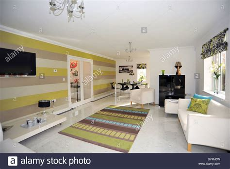 new show home lounge interior uk stock photo royalty
