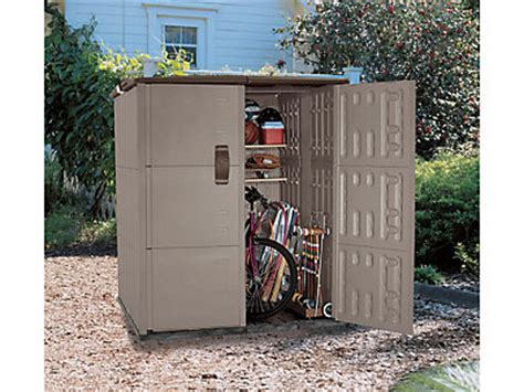 Motorcycle Storage Shed Rubbermaid by Bicycle Storage Shed Outdoor Bike Container Bins