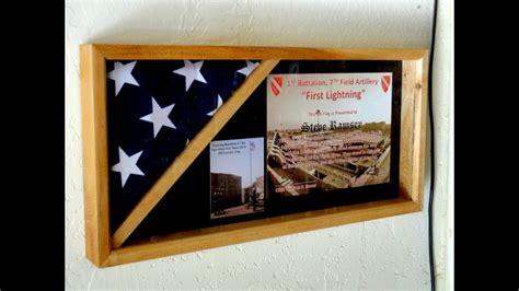 flag case  honor     field artillery  veterans