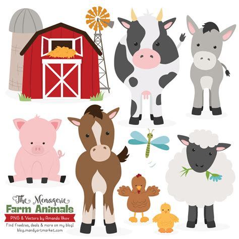 printable animal art free printable farm animal clipart 50