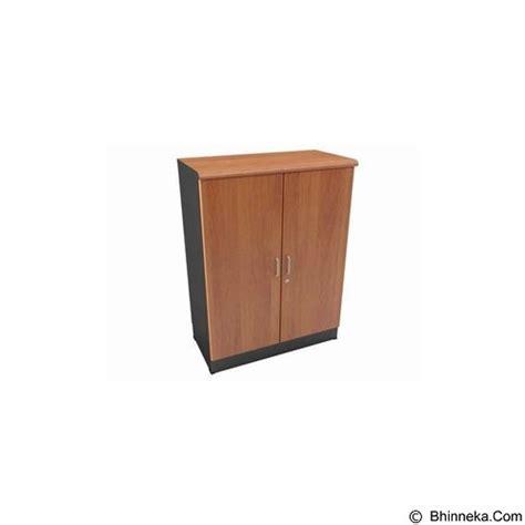 Lemari Kayu Lapis jual uno lemari arsip pendek pintu kayu 2 ruang ust 4352