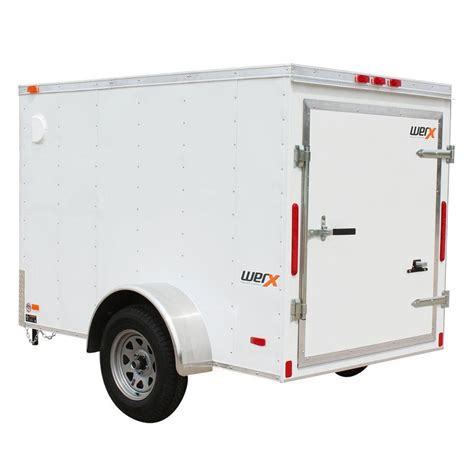 werx 2217 lb enclosed cargo trailer wx58 the home depot