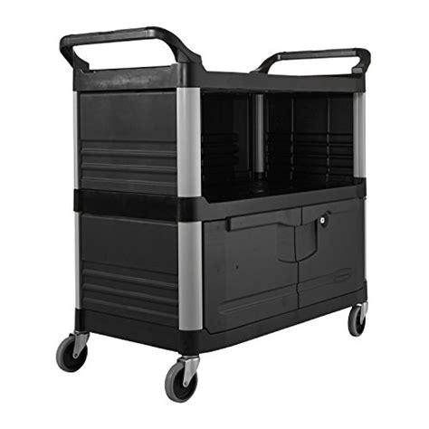 rubbermaid 3 drawer storage cart rubbermaid commercial fg409500bla xtra equipment cart 3