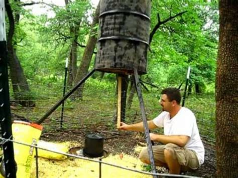 how to make a gravity feed deer feeder | funnycat.tv