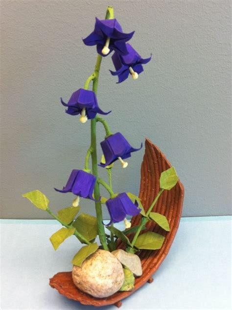 Bell Flower Origami - origami purple and origami flowers on