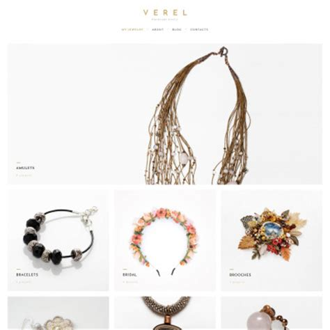 Website Templates Web Templates Template Monster Handcrafted Jewelry Website Templates