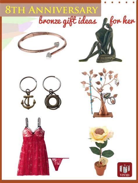 wedding anniversary gift bronze bronze anniversary gift ideas for s