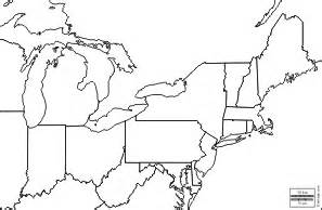 us region map outline outline map northeast united states