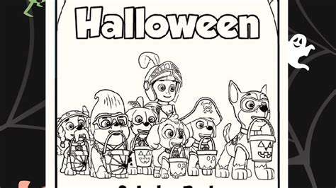 halloween coloring pages paw patrol paw patrol halloween colouring pack