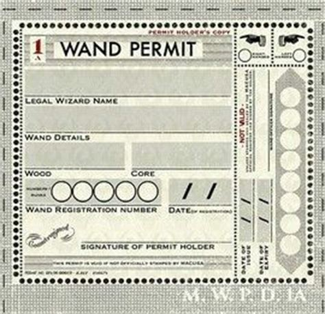 ministry of magic identity card template 17 best images about harry potter printables on