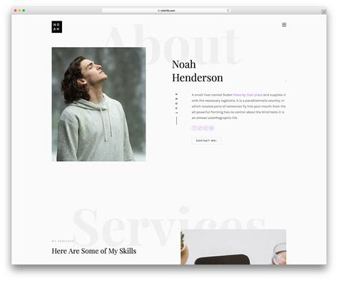 25 Best Free Personal Website Templates For Professionals 2019 Personal Website Templates