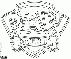 Paw Patrol Logo Coloring Page Coloring Pages Paw Patrol Logo Template