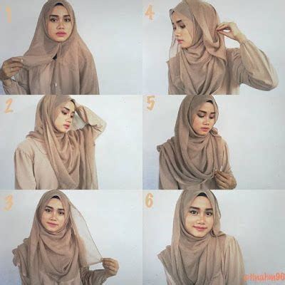 tutorial hijab syar i segi empat simple 25 kreasi tutorial hijab segi empat simple 2018
