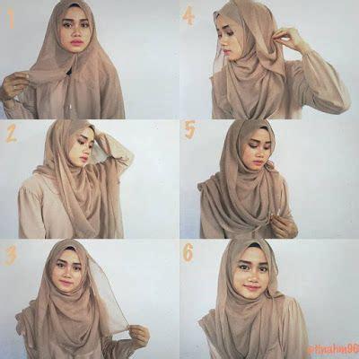 tutorial hijab segi empat simple bergambar 25 kreasi tutorial hijab segi empat simple 2018
