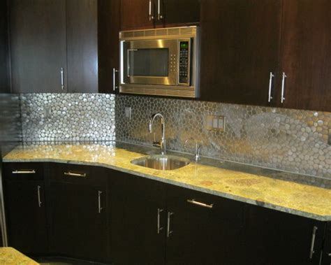 popular kitchen backsplash stainless steel pebble backsplash 5 popular pebble