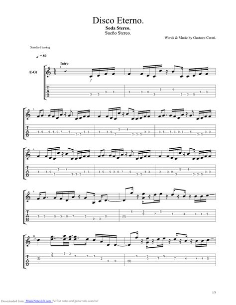 soda stereo imagenes retro bass tab disco eterno guitar pro tab by soda stereo musicnoteslib com