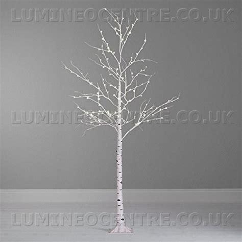 white led tree lumineo 240cm cool white led prelit birch tree suitable