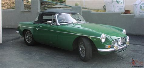british racing green 1969 mgb roadster with hardtop british racing green