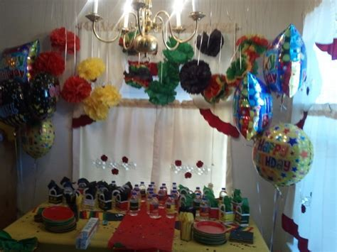 My decor at my friend reggae style birthday party   My