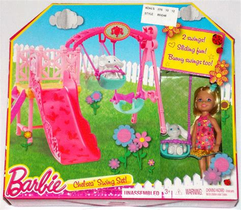 barbie swing set new barbie sisters chelsea swing set by mattel playset