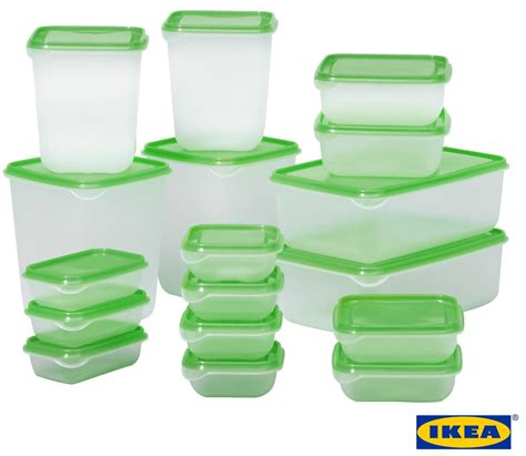 Ikea Pruta 17 ikea pruta set 17 pcs high quality plastic transparent food storage containers ebay