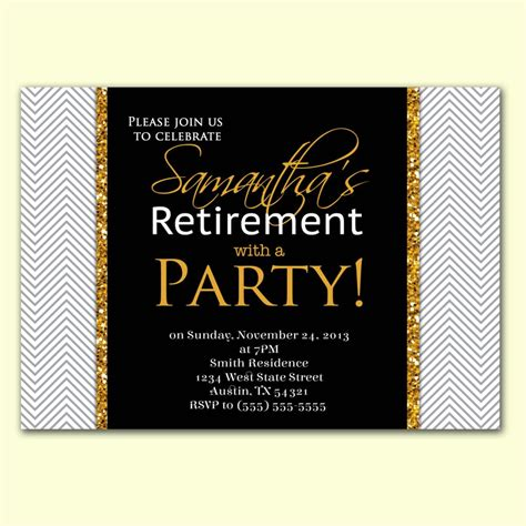 Microsoft Retirement Card Template by Retirement Invitation Template Microsoft Various