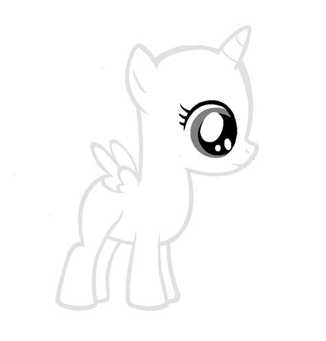my little pony coloring pages bases alicorn base coloring pages