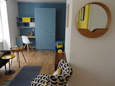 indogate decoration cuisine bleu et jaune