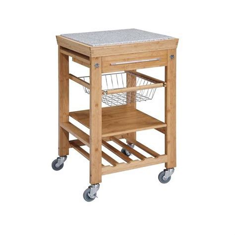 Origami 26 in. L x 20 in. W Foldable Kitchen Island Cart
