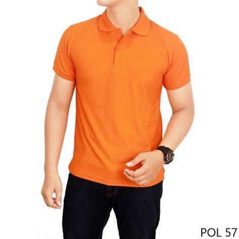 Batik Wanita Slim Izzy Orange kaos kerah warna motif polos orange pol 57 kemeja pria