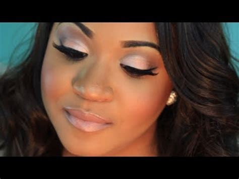 neutral wedding makeup with pop of color! | zambian