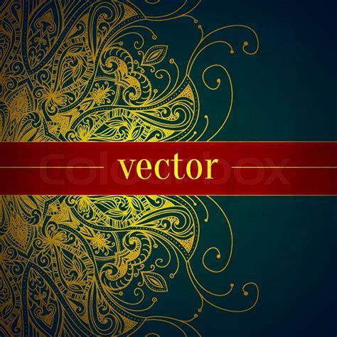 tribal vintage vector background floral banner