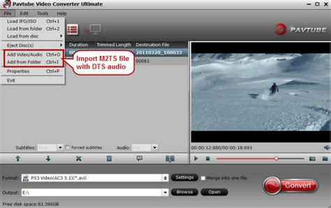 format audio dts convert m2ts with dts audio to ac3 for playback on ps3