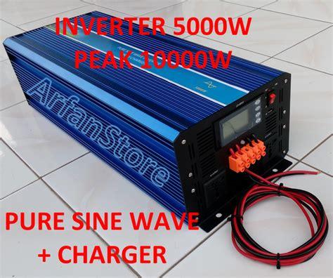 Promo Inverter 5000w Dc 24v Ac 220v Sine Wave 5000 Watt Peak jual inverter 5000w dc 24v ac 220v sine wave 5000