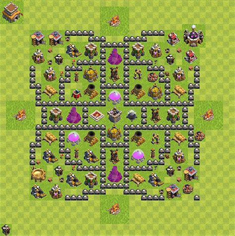 coc layout rathaus 8 die base f 252 r farmen in clash of clans rathaus level 8